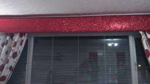 Red Glitter Pelmet