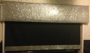 silver glitter pelmet plain